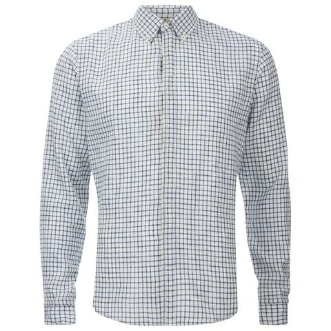 BOSS Orange Men's Espicye Checked Long Sleeve Shirt - White