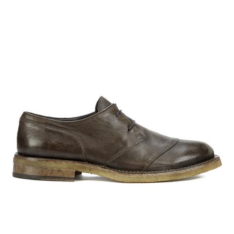Belstaff Men's Westbourne Leather Derby Shoes - Black/Brown