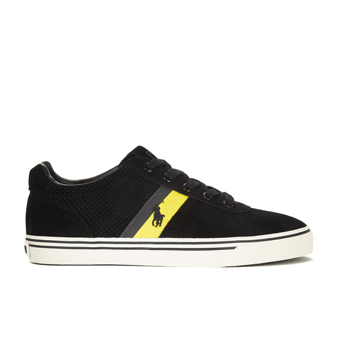 Polo Ralph Lauren Men's Hanford II Perforated Suede Trainers - Black