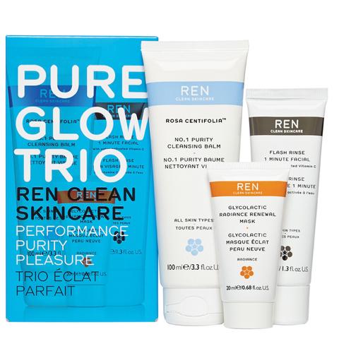 REN Pure Glow Trio Kit (Worth £50.00)