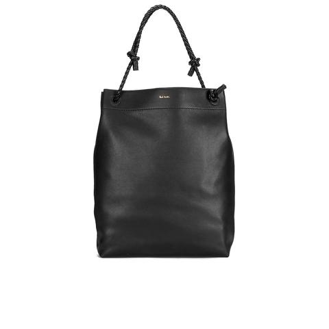 Paul Smith Accessories Women's Medium Leather Paper Tote Bag - Black