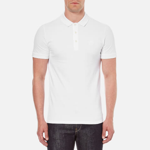 Versace Collection Men's Small Logo Polo Shirt - White