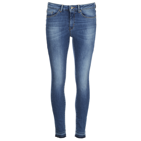 BOSS Orange Women's J10 Florida Frayed Cuff Jeans - Blue