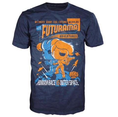 Futurama Adventures Pop! T-Shirt - Blue