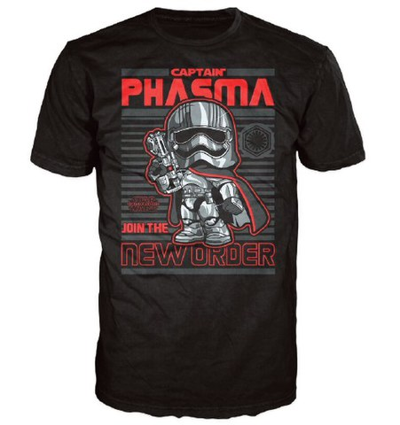 Star Wars The Force Awakens Captain Phasma Poster Pop! T-Shirt - Black