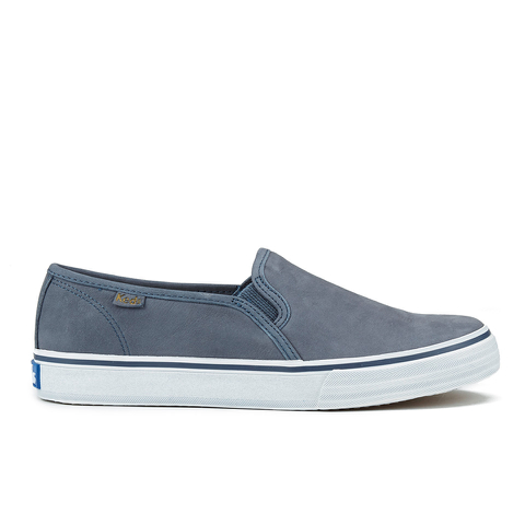Keds Women's Double Decker Washed Leather Slip On Trainers - Navy