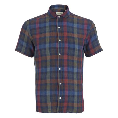 Oliver Spencer Men's Short Sleeved Eton Shirt - Pilford Multi