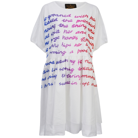 Vivienne Westwood Anglomania Women's Groan Baby T-Shirt Dress - White