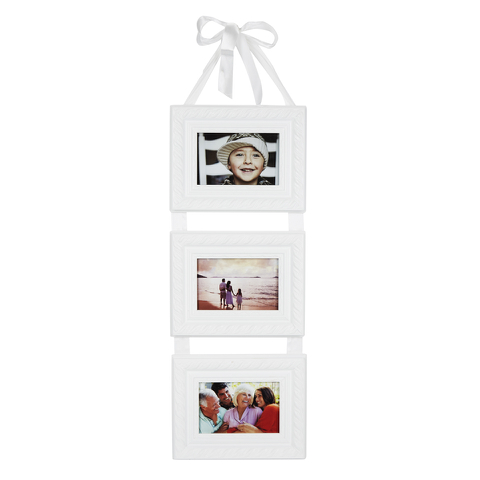 Bark & Blossom Triple Hanging Frame with Ribbon