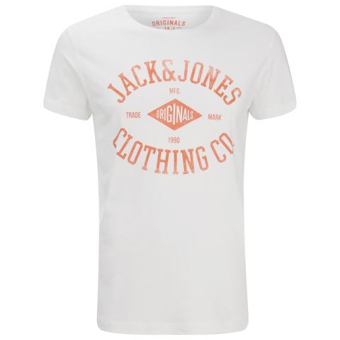 Jack & Jones Men's Originals Diamond T-Shirt - Cloud Dancer