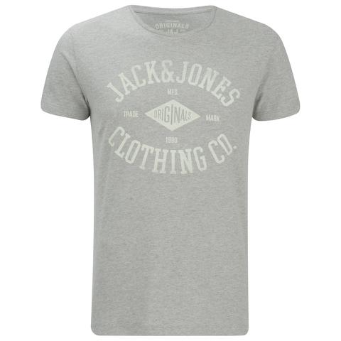 Jack & Jones Men's Originals Diamond T-Shirt - Light Grey Marl