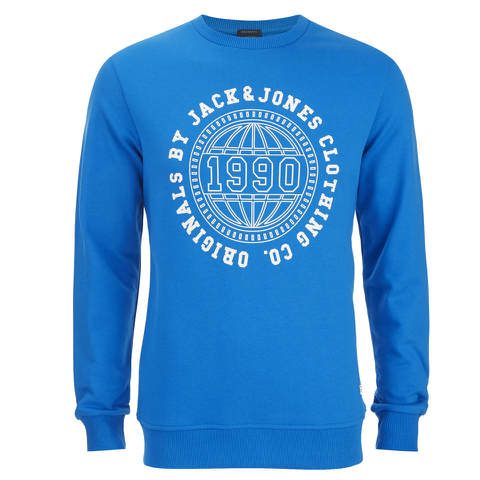 Jack & Jones Men's Originals Steven Sweatshirt - Imperial Blue