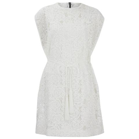 McQ Alexander McQueen Women's Lace Cape Dress - Ivory
