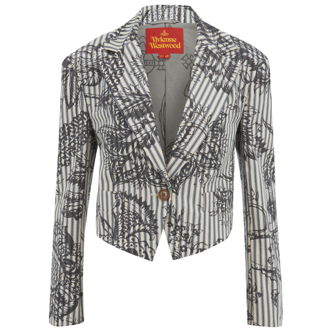 Vivienne Westwood Red Label Women's Cropped Lou Lou Jacket - Ticking Print