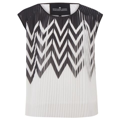Designers Remix Women's Tilt Graphic Top - Black/White