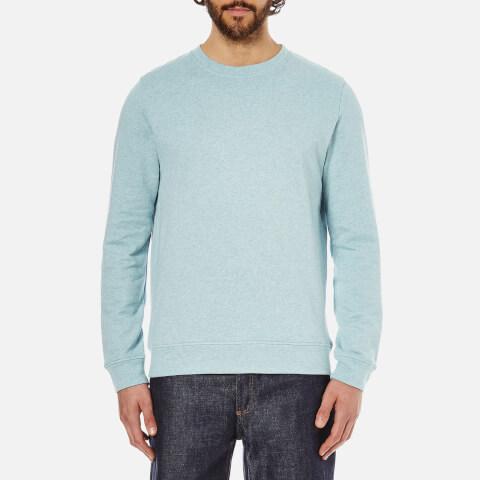 A.P.C. Men's Basique Long Sleeved Sweatshirt - Bleu Clair