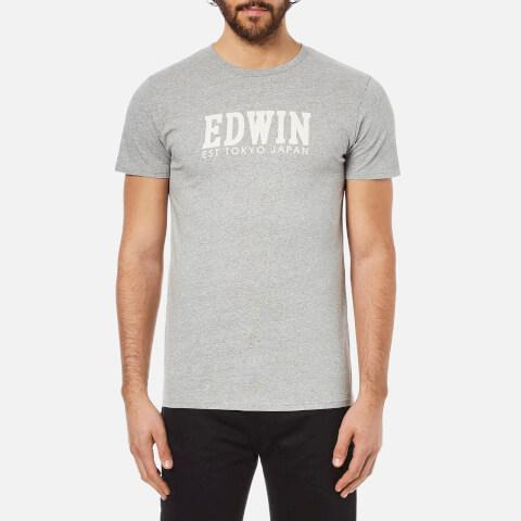 Edwin Men's Logo Type 2 T-Shirt - Grey Marl