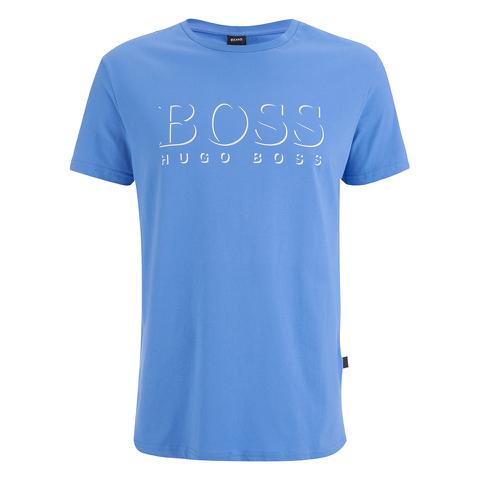 BOSS Hugo Boss Men's Large Logo T-Shirt - Blue