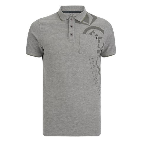 Crosshatch Men's Pacific Polo Shirt - Grey Marl