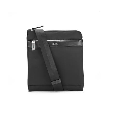 HUGO Men's Digital Zip Crossbody Bag - Black
