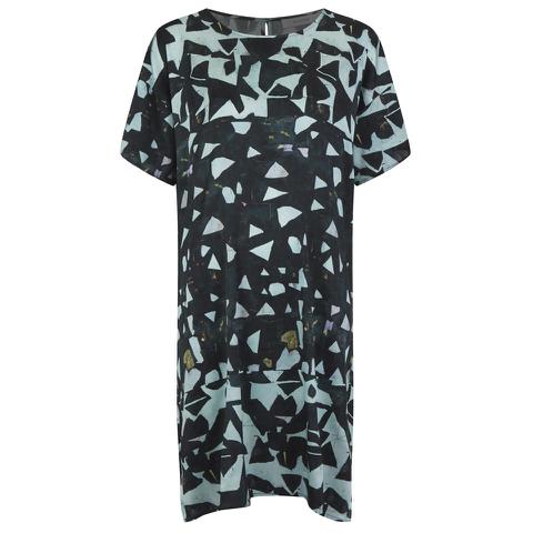 Munthe Women's Eye Silk Shape Print Dress - Dark
