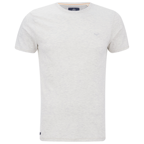 Threadbare Men's William Crew Neck T-Shirt - Ecru Marl