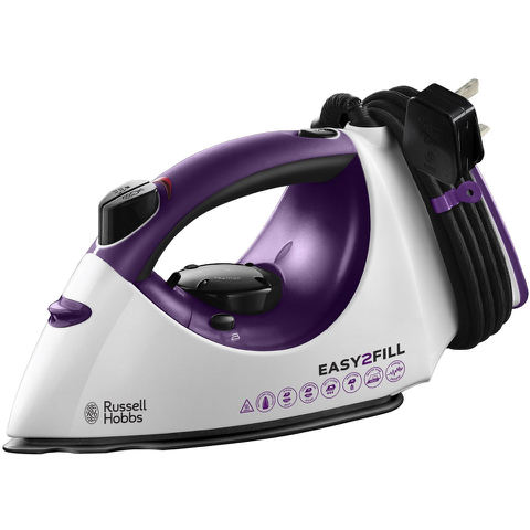 Russell Hobbs 19821 Easy 2 Fill Steam Iron - Purple - 2400W