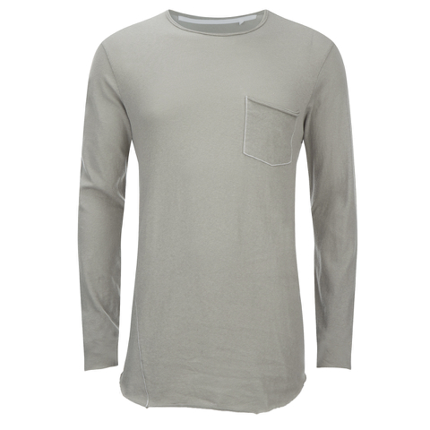rag & bone Men's Hartley Long Sleeve Pocket T-Shirt - Granite