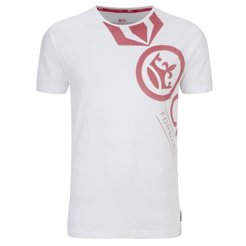Crosshatch Men's Pacific Print T-Shirt - White