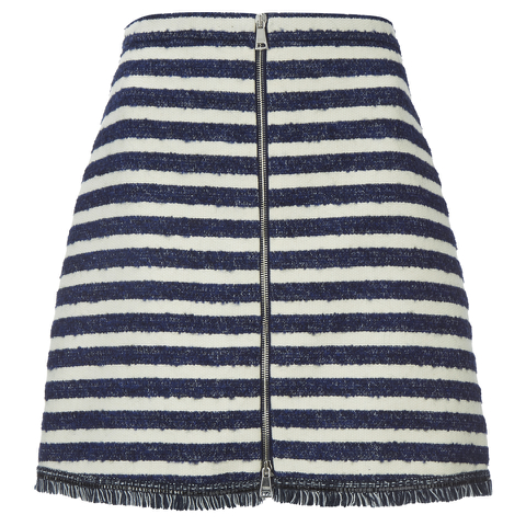 Sonia by Sonia Rykiel Women's Tweed Striped Skirt - Navy/Ecru
