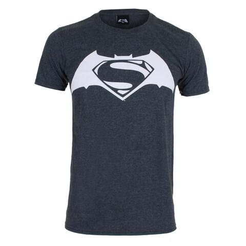 DC Comics Men's Batman v Superman Logo T-Shirt - Dark Heather