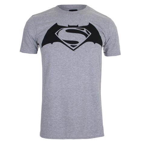 DC Comics Men's Batman v Superman Logo T-Shirt - Sport Grey