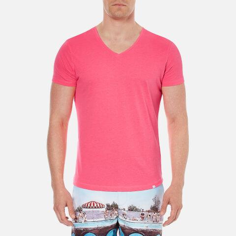 Orlebar Brown Men's Obv V Neck T-Shirt - Carmine
