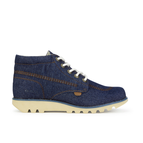 Kickers Men's Kick Hi Denim Boots - Dark Blue