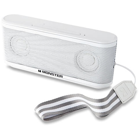 Monster Micro Clarity Portable Bluetooth Speaker - White