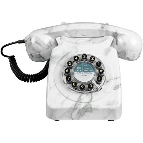 Retro 746 Marble Brushed Telephone