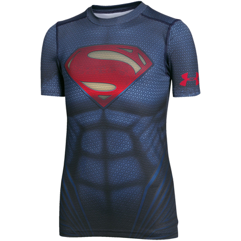 Under Armour Boy's Transform Yourself Superman T-Shirt - Navy Blue