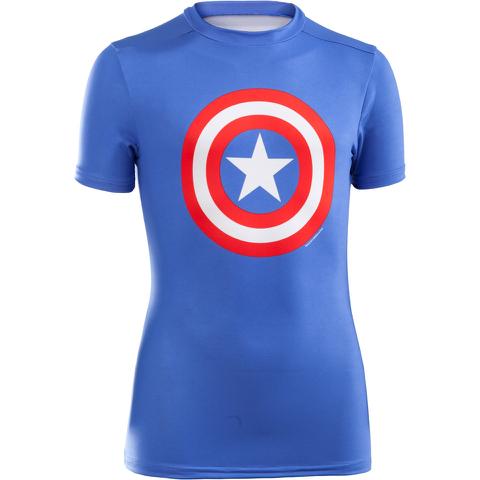 Under Armour Boy's Transform Yourself Captain America Baselayer - Blue