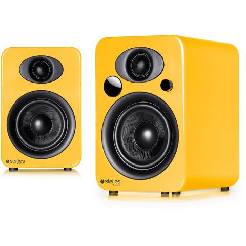 Steljes Audio NS3 Bluetooth Duo Speakers - Solar Yellow
