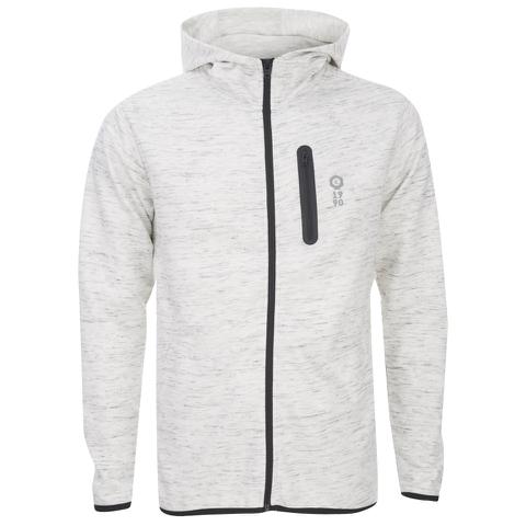 Jack & Jones Men's Core Keep Zip Through Hoody - Treated White