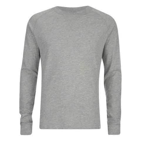 Jack & Jones Men's Core Inc Long Sleeve T-Shirt - Light Grey Marl