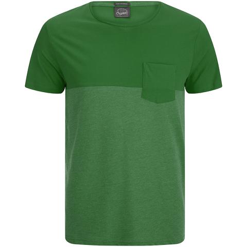 Jack & Jones Men's Originals Tobe 2 Tone T-Shirt - Verdant Green
