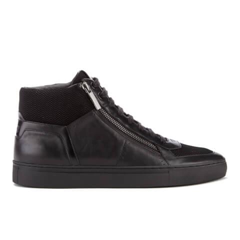 HUGO Men's Futurism Leather Hi-Top Trainers - Black