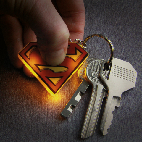 Superman Light-up Key Ring