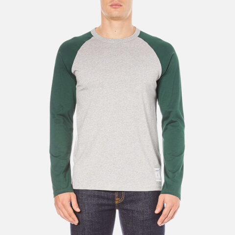 Carhartt Men's Long Sleeve Dodgers T-Shirt - Grey Heather/Conifer
