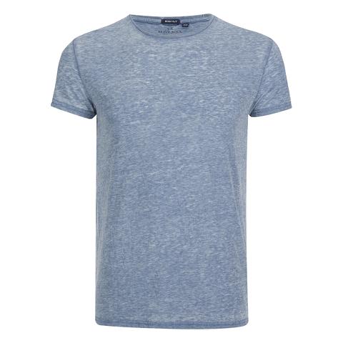 Brave Soul Men's Gonzalo Burnout T-Shirt - Ink Blue