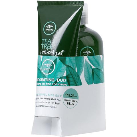 Paul Mitchell Tea Tree Shampoo and Tea Tree Firm Hold Gel