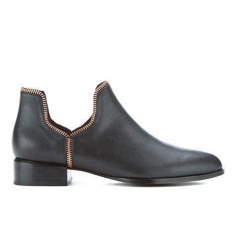 Senso Women's Bailey VIII Leather Ankle Boots - Ebony/Rose Gold