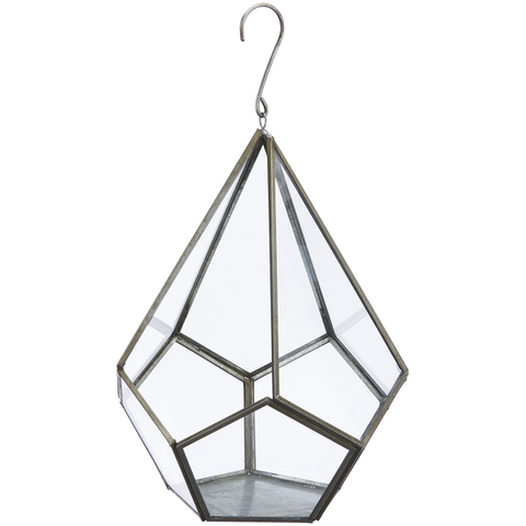 Nkuku Manduri Hanging Planter - Antique Zinc - Large
