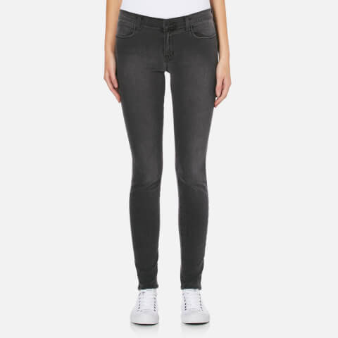 J Brand Women's Mid Rise Super Skinny Jeans - Nightbird